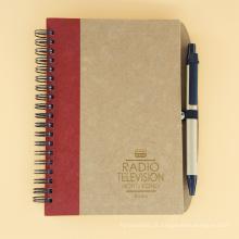 Caderno espiral feito sob encomenda do caderno da placa do papel de embalagem da faixa elástica