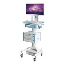 Estación de trabajo móvil de aleación de aluminio para hospitales