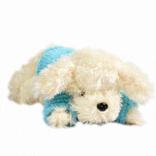Plush Soft Toy Poodle Dog, Customized Sizes and Designs are Accepted