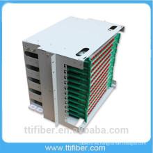 144 puertos Rack montado ODF / Fiber Patch Panel con adaptador FC
