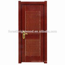 Hotel moldeado habitación puerta diseño MDF puerta de melamina madera puerta interior