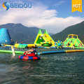 Jeux d'obstacles à l'eau flottante Jouets gonflables géants Parc aquatique