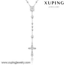 43284-haute couture costume bijoux chapelet religieux collier