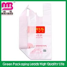 Bolso plano de la impresión de tinta de la clase superior para la bolsa de plástico del producto médico / del HDPE para hacer compras