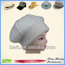 LSA34, Winter-Kaninchen-Haar und Wolle Großhandelsmädchen-Art und Weisekappe und -hut
