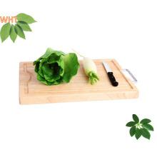 Placas de corte de madeira Pão e tábua de cortar de frutas com alça de metal
