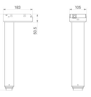 Column for adjustable desk