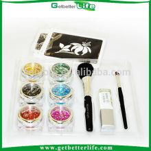 Kit de paillettes dans pink ribbon tatouages temporaires paillettes, tatouages temporaires paillettes de sucre