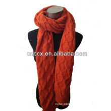 PK17ST305 fashion acrylic knitted cable Loop scarf knitted scarf fashion scarf