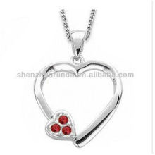 necklace fashion 2014 heart pendant stainless steel necklace