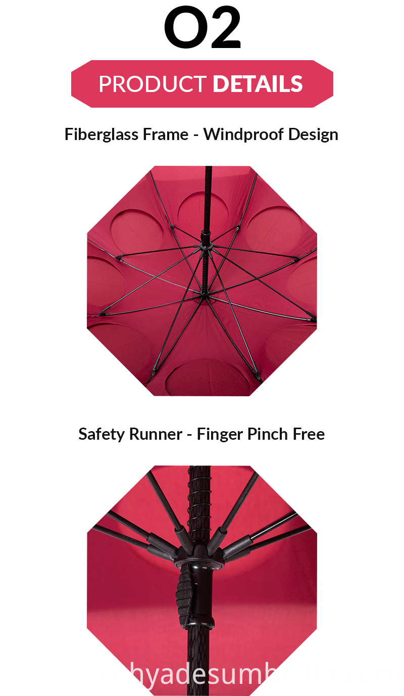Large Vented Windproof Golf Umbrella