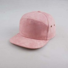 Suede Blank Flat Bill Hat 6 Panel Cap