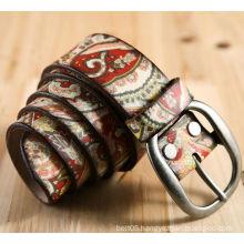 Genuine leathre belt custom printed belts men