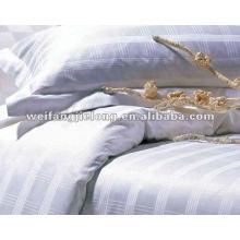Tecido de risca de cetim 100% algodão para o hotel ou hometextile