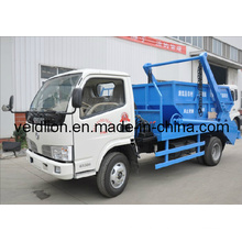 Dongfeng 4X2 Drive 5tons Swing Arm Garbage Truck