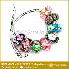 2016 nouveau luxe Bracelet bricolage coloré européen perle de Murano Murano