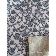 100% Polyester Plain Dyed Short Soft Faux Fur Bonding Coral Fleece Velvet Fabric for Garment (ESFH-507)
