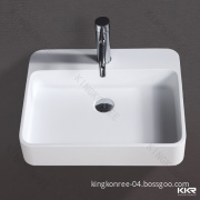 Italian Model Artificial Marble Rectangular Dining Room Wash Basins