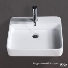 Italian Model Artificial Marble Rectangular Dining Room Wash Basins