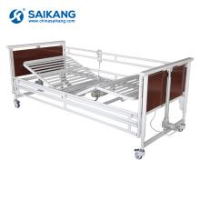 SK011-3 lit d'hôpital se pliant en acier électrique multifonctionnel de clinique
