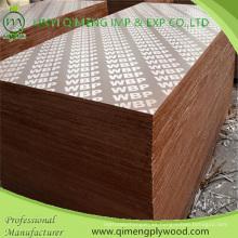 12mm 15mm 18mm Phenolic Film Faced Plywood con color negro y marrón