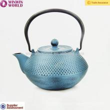 Bule quente do ferro fundido da venda para Dubai 1200ML, potenciômetros do chá do metal com logotipo do laser
