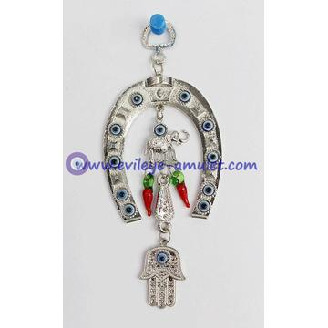 Evil Eye Wall Hanging,Horseshoe Wall Hanging With Turkish Nazar Evil Eye, lucky evil eye, nazar bead, greek evil eye