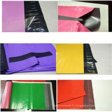Enveloppe postale colorée en plastique imperméable qui respecte l'environnement d'expédition / courrier en plastique