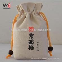 sac de toile de coton de chiffre personnalisé écologique
