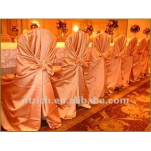 self-tie back chair cover,CT452 satin chair cover,universal chair cover