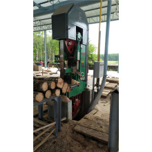 Vertical horizontal band saw for lumber cutting