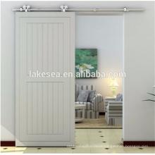 Modern 6.6ft Stainless Steel Sliding Barn Door Hardware /Wood sliding Door System