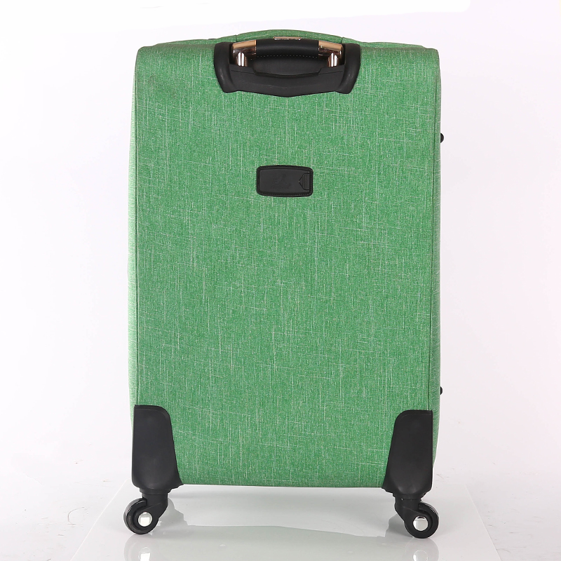green luggage bag