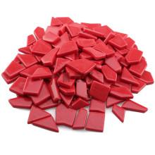 Verre fritté moulé irrégulier rouge