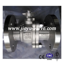 Válvula de esfera CF8m Pn25 / 40 de aço inoxidável