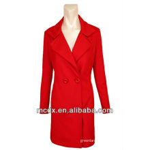 Korean Fashion Slim Red Trench Coat Women