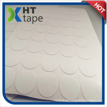 Die Cutting Round Shape 20mm Diameter Cotton Paper Double Sided Tape