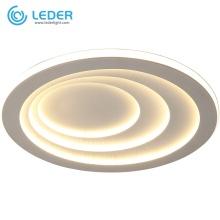 LEDER White Room Flush Ceiling Lights