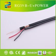 Cabo coaxial Rg59 + OEM do cabo de cobre do poder