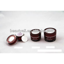 Taper Acrylic Cosmetic Jar With Diamond Cap
