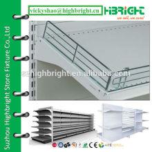 metal shelf riser shelf fence shelf rail for supermarket rack