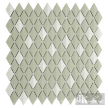 Diamond iridescent glass tiles