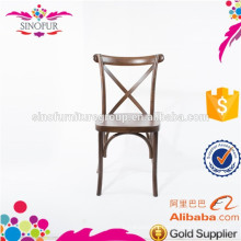 Cadeiras cruzadas por atacado / cadeira de madeira cruzada