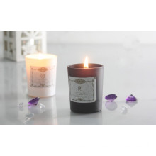 Scented Bougie in Black And White Glass holder