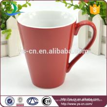 Глазурованные керамические красные чашки партия оптом