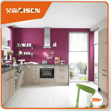 Popular for the market wood grain melamine kitchen cabinet