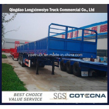 Single Tyres Cargo Fence Semi-Trailer with Side Wall