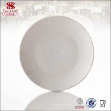 Plato redondo de mantequilla de cerámica, plato de cerámica, platos de cocina