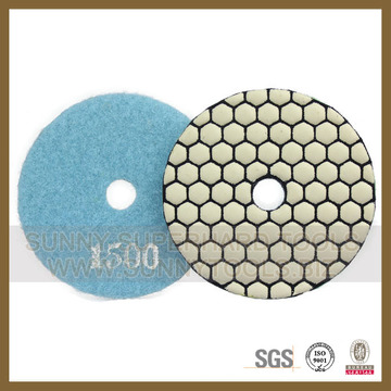 Tampon de polissage diamant sec pour pierres