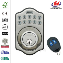 Electronic Keyless Deadbolt Lock with Remote Satin Chrome